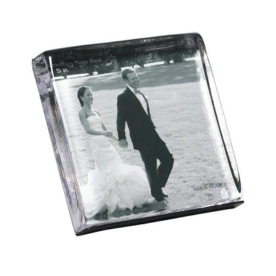 SIMON PEARCE WOODBURY SQUARE PHOTO BLOCK FRAME
