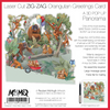 """Orangutans"" - Zig Zag Greetings Card"