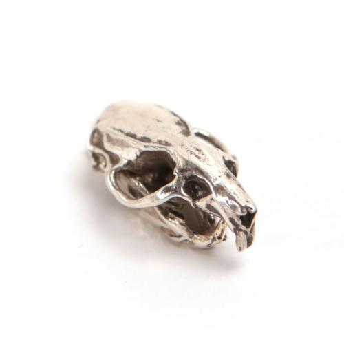 Bronze Brown Rat Animal Skull Pendant by Fire & Bone