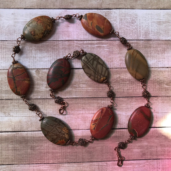 Personal Collection: Picasso jasper linked necklace