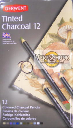 Derwent Tinted Charcoal 12 st. 2301690