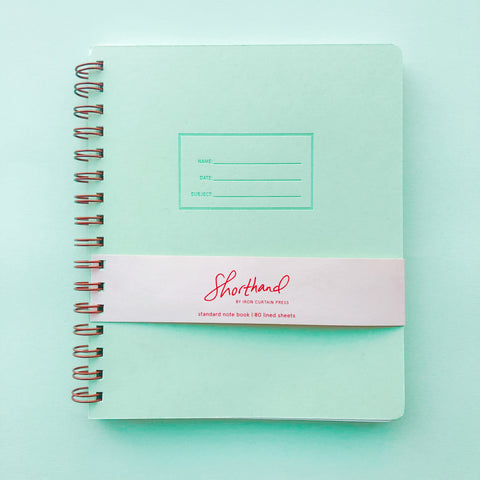 Shorthand Lined Notebook - Mint