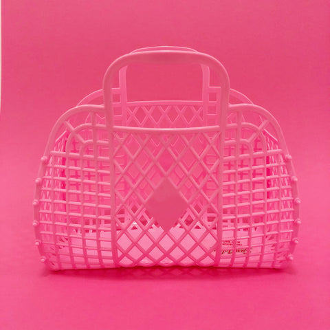 Jelly Retro Basket - Large Bubblegum