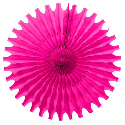 Hot Pink Tissue Fan - Small