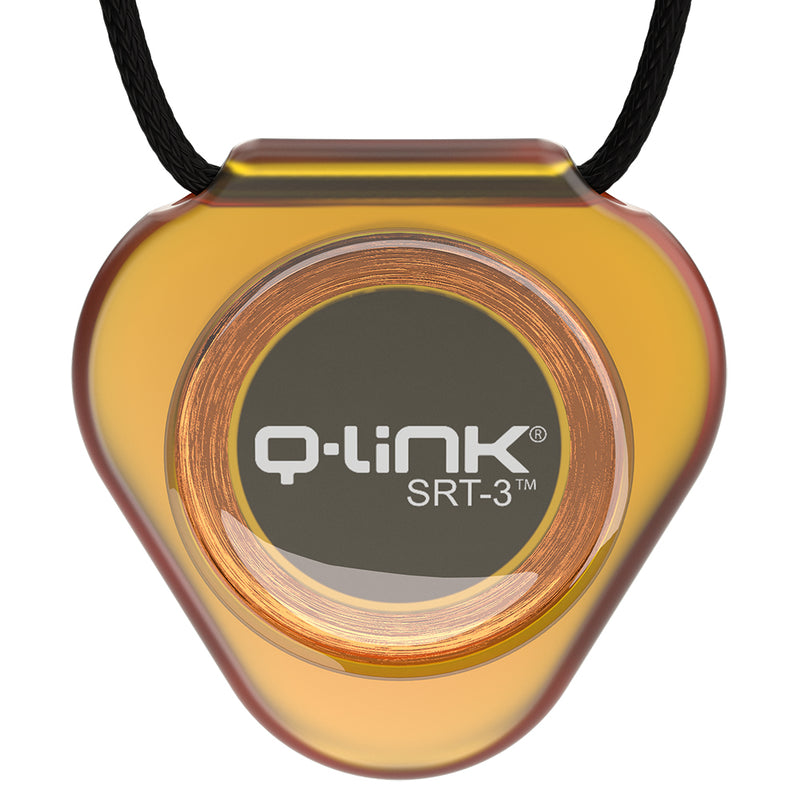 Q-Link Acrylic SRT-3 Pendant (Translucent Astral Amber) - NEW!