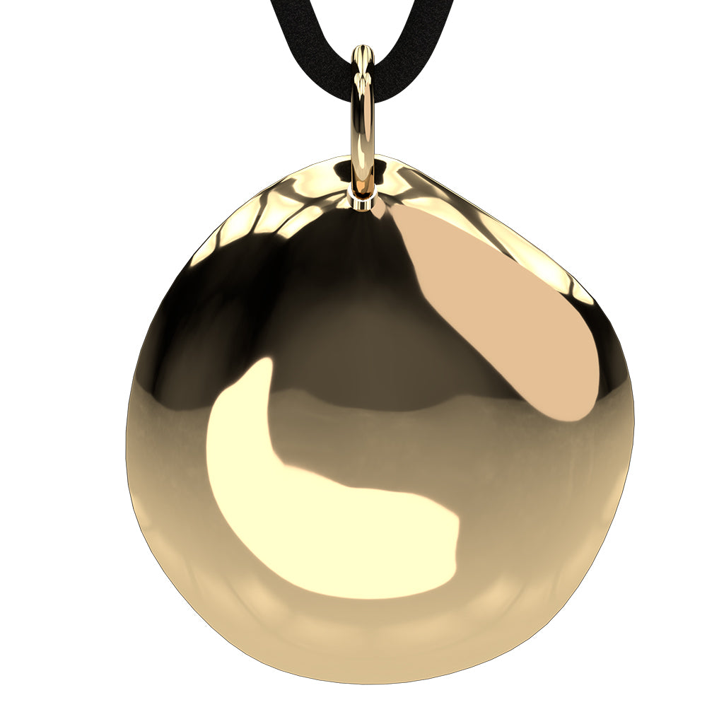 Q-Link Gold Pebble SRT-3 Pendant (Polished Finish)