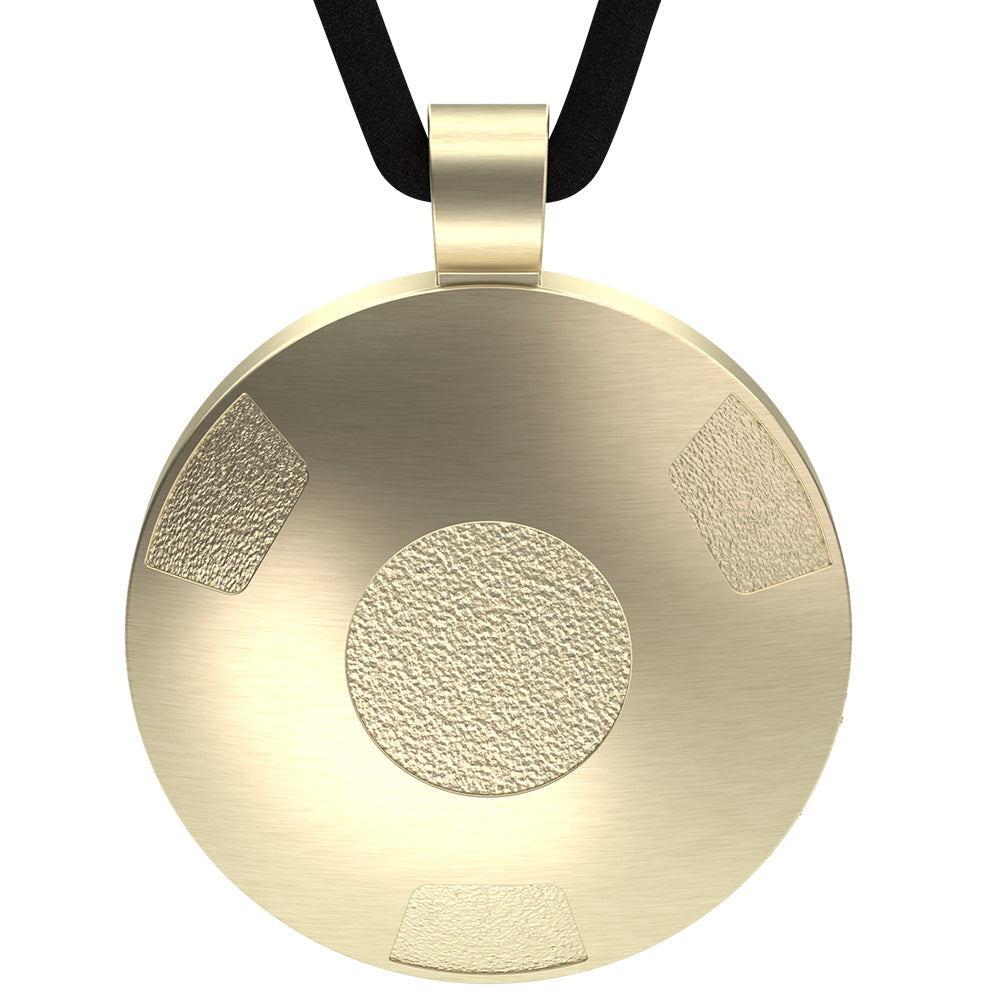 Q-Link Gold Retro SRT-3 Pendant (Brushed Finish)