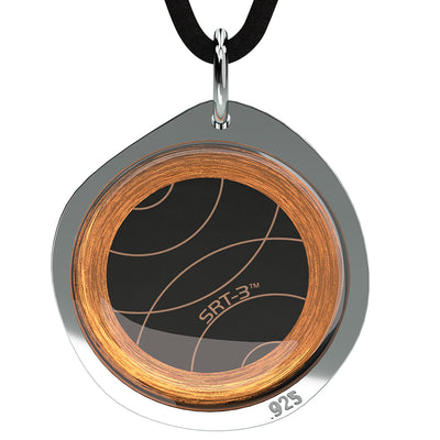 Q-Link Silver Pebble SRT-3 Pendant (Brushed Finish)