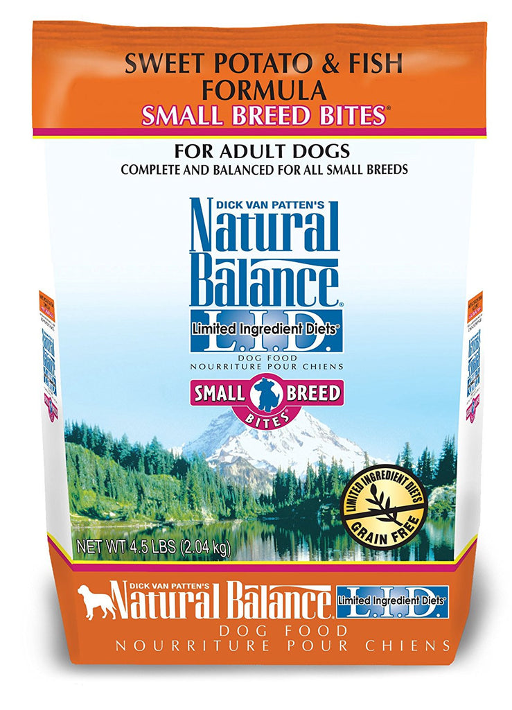 NATURAL BALANCE DOG LIMITED INGREDIENT DIET FISH & SWEET POTATO SMALL BREED 4.5LBS