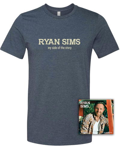 RYAN SIMS - AUTOGRAPHED CD / TEE BUNDLE