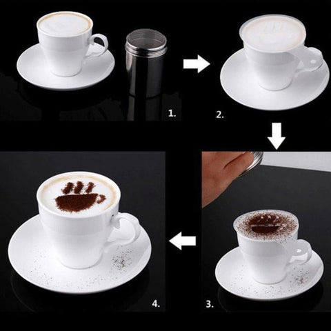 Latte Lover's Coffee Design Topper Tool In 2 Pak