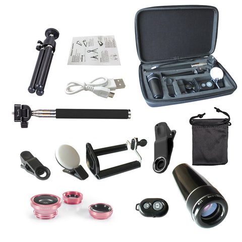 12 in 1 Smartphone Lens And Photography Selfie Bundle