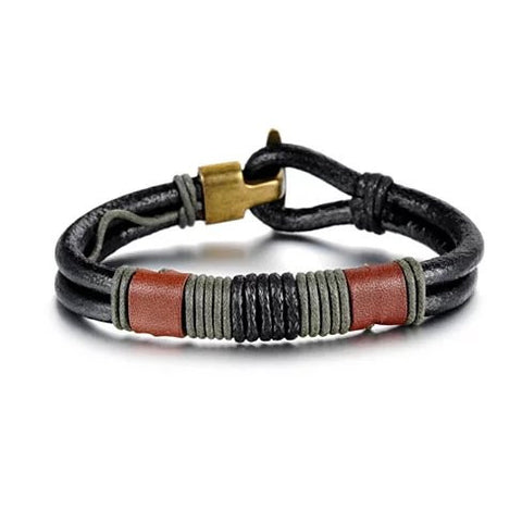 RODEO Olive Genuine Leather Bracelet - VistaShops - 1