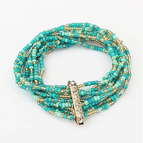 Bohemian Bead Bracelet in Springy Colors