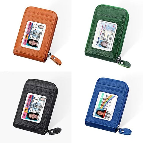 Zip Vault RFID Blocker Card Holder And Wallet