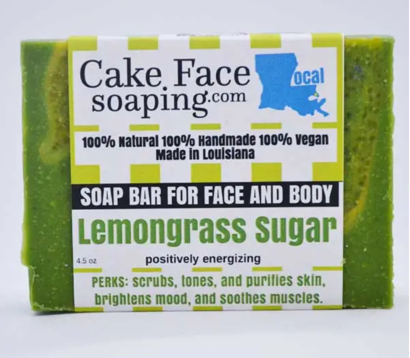 Cake Face Soaping - Lemongrass Sugar - 4.5 Bar Soap