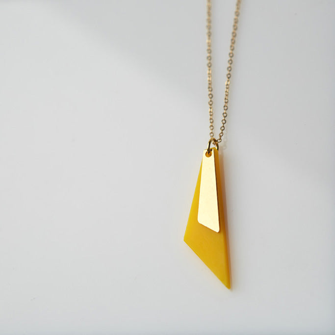 Trikon- Yellow Triangle necklace