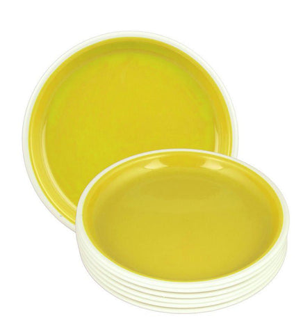 Nayasa Round Quarter Plate Set Yellow - {variant_title}} - Plate Set - jindal - www.tcgonlinestore.com - www.tcgonlinestore.com
