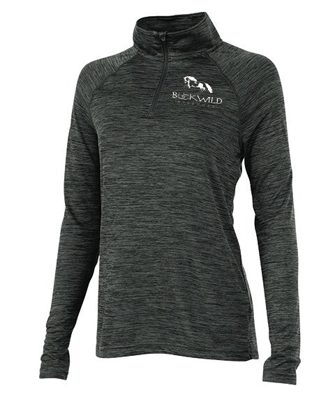 Performance Pull Over | Quarter Zip | 100% Polyester | Black