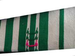 Mendil - Beach Towel - Green Thick Stripes - Blanket Mendil | Moroccan Corridor