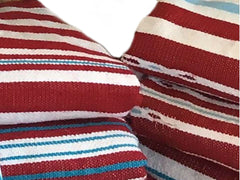 Mendil - Beach Towel - Red Thick Stripes - Blanket Mendil | Moroccan Corridor