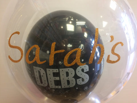 Personalised - Debs Deco Bubble Balloon