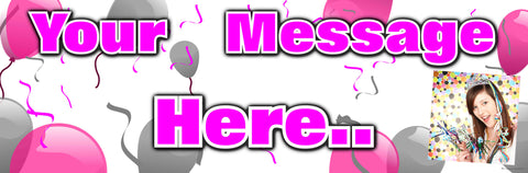 Photo Banner Pink & Silver