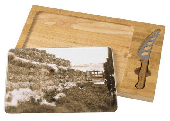 Winter Feed Lot Horizontal Cheese Board