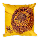 Beauty and the Bee Throw Pillow