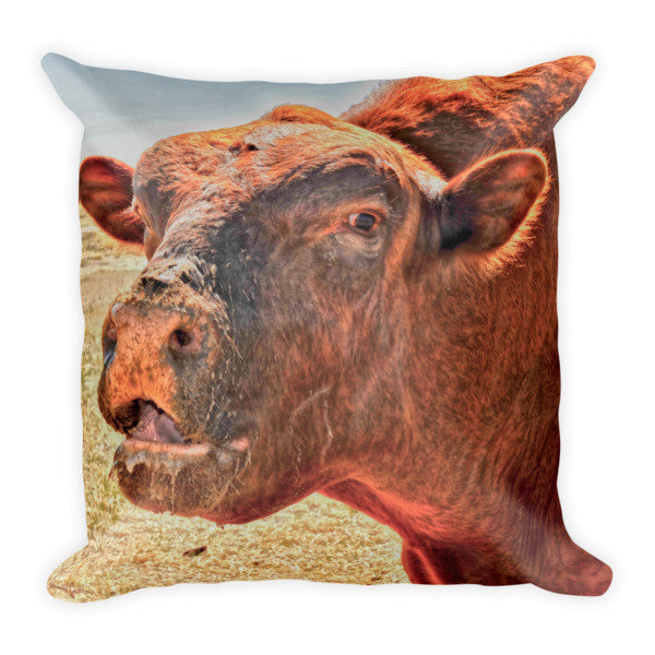 Too Close for Bull Throw Pillow