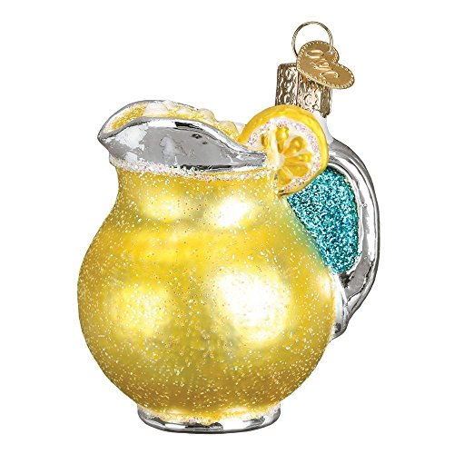 Old World Christmas Lemonade Pitcher Glass Blown Ornament