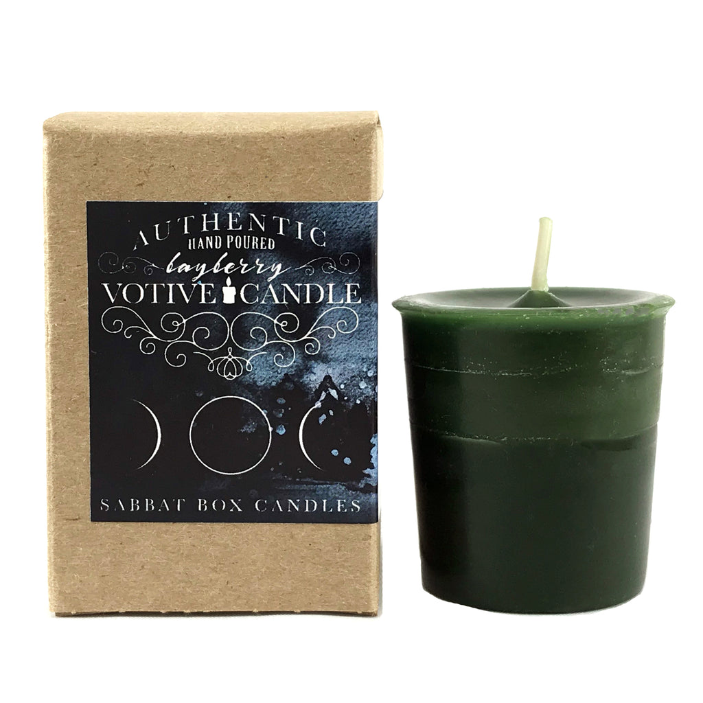 Hand Poured Bayberry Votive Spell Candle - Sabbat Box