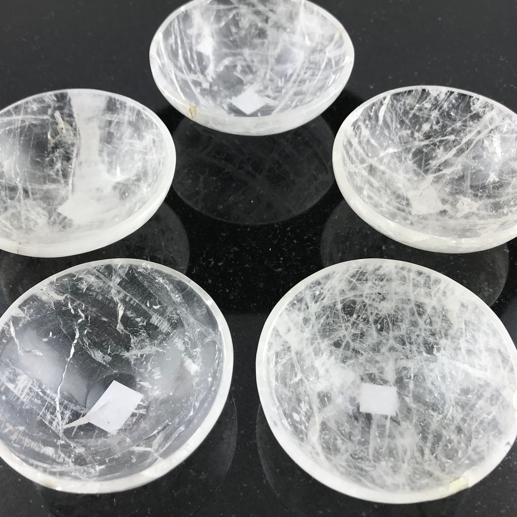 Clear Quartz Crystal Bowls - Sabbat Box Crystals