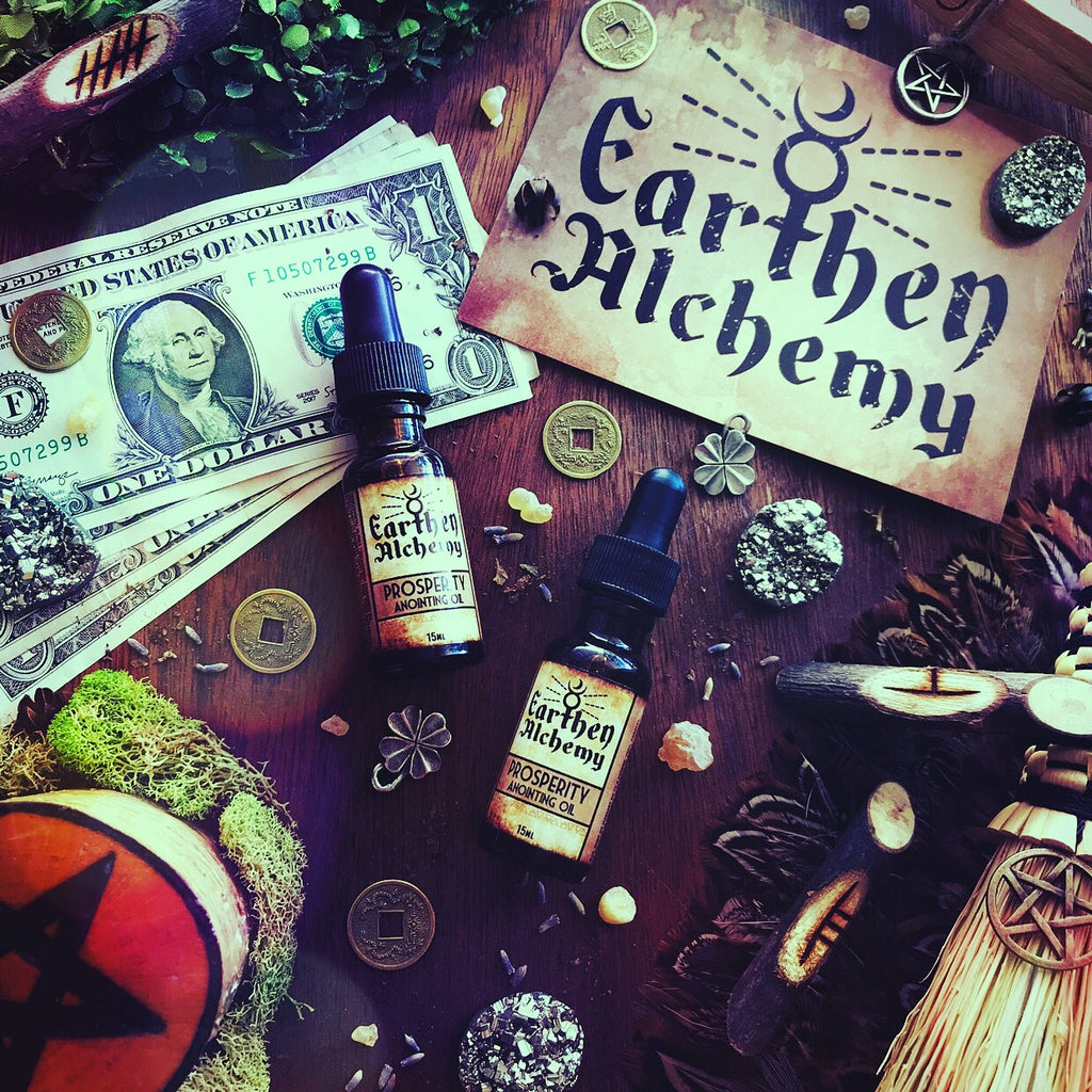 Prosperity Anointing Oil By Earthen Alchemy - 2019 Ostara Sabbat Box