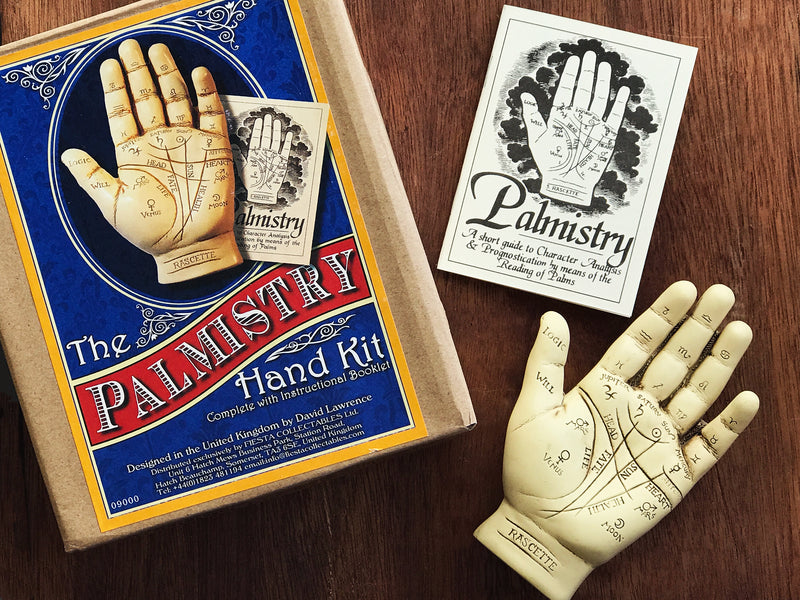 Palmistry Hand Statue With Info Booklet - Sabbat Box - Palmistry Hand Diagram Statuary