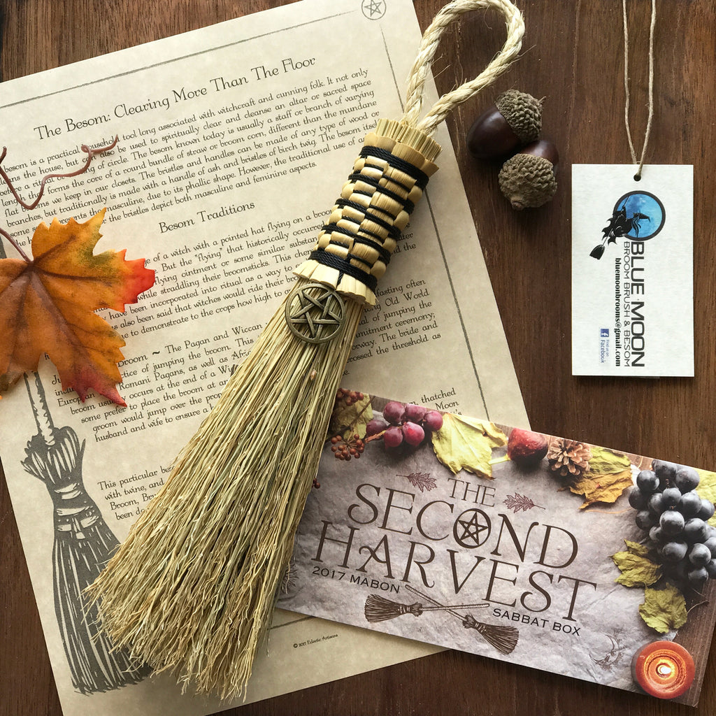 Witch's Besom - Witches' Broom By Blue Moon Broom Brush and Besom - Sabbat Box