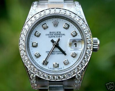 ROLEX LADIES DATEJUST STEEL DIAMONDS UNWORN