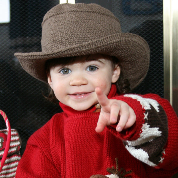 Cowboy Hat - Hand Crocheted - Dark Chocolate