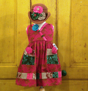 Cranberry Horses Patchwork Dress
