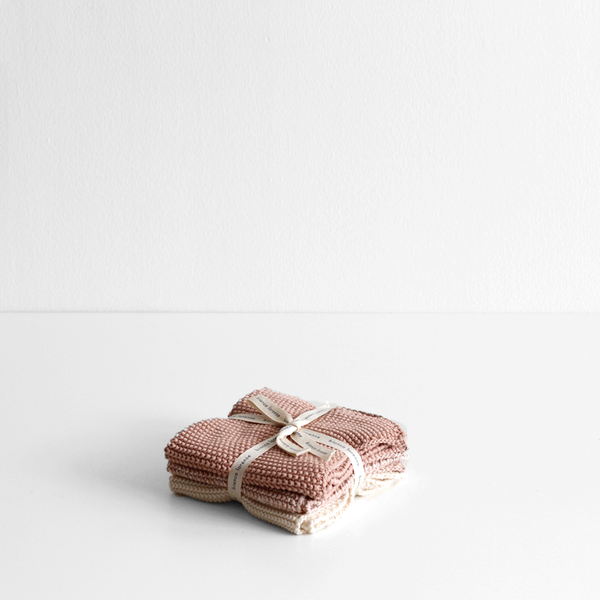 Soft Washer Cloths (Set 3) Dusty Pink