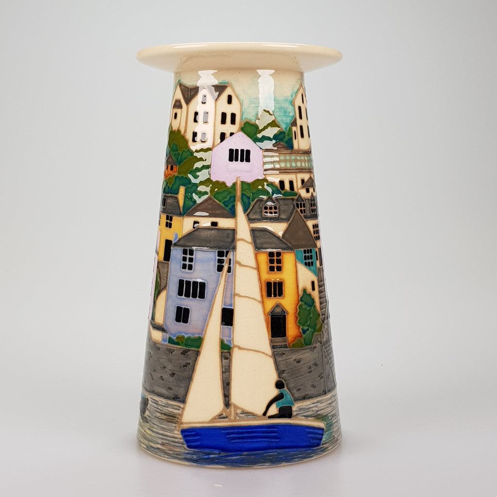 Dennis Chinaworks Salcombe Small Conical vase edition of 15 - uk-art-pottery-test-site