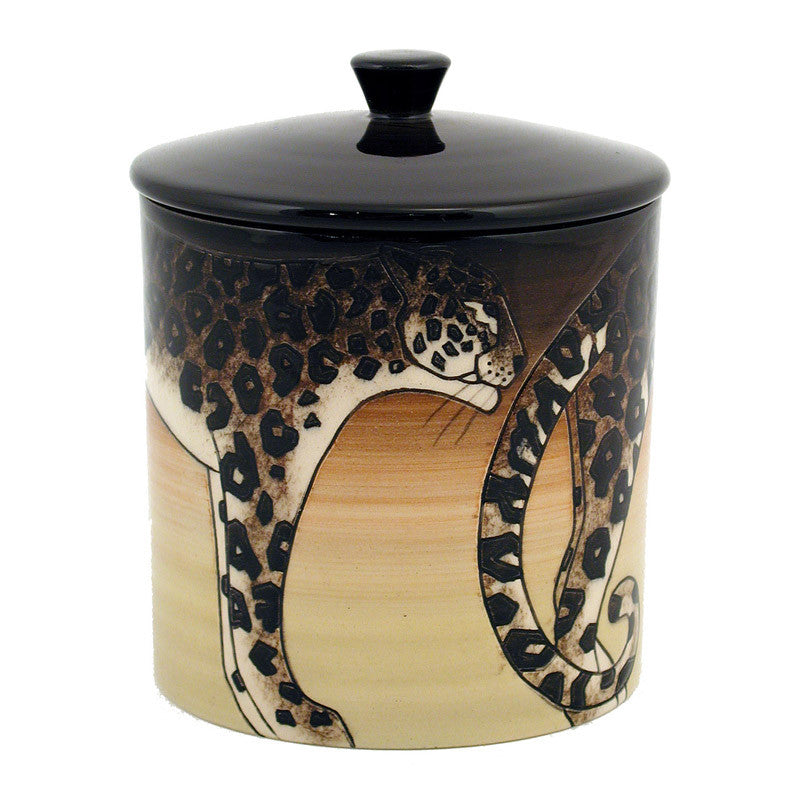 "Dennis Chinaworks Ocelot Standard Lidded Box 6"" - uk-art-pottery-test-site"