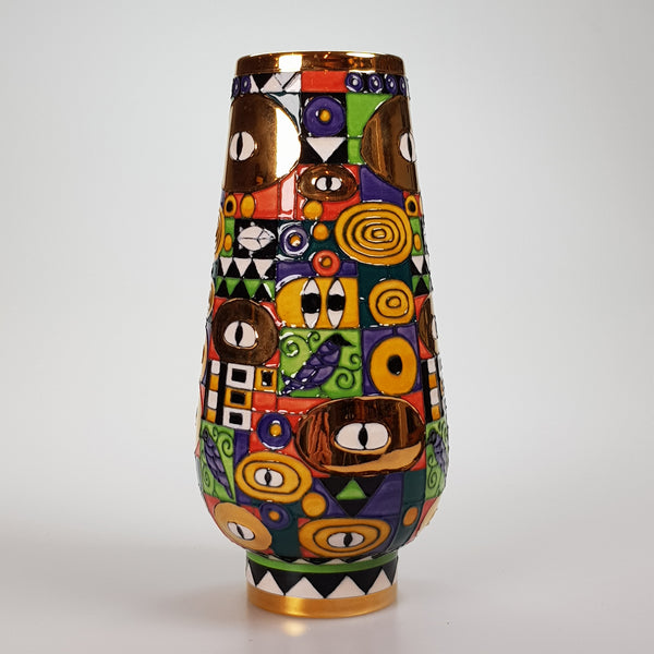 "Klimt Pattern 8"" Bud Vase - uk-art-pottery-test-site"