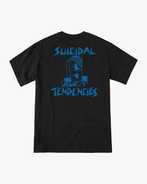 RVCA x SUICIDAL Collaboration T-Shirt + FLS Sticker and Suicidal Skates Stickers