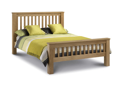 Amsterdam oak double bed frame