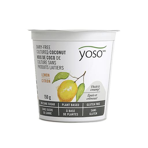 Dairy-Free Cultured Coconut Yogurt, Lemon, YOSO