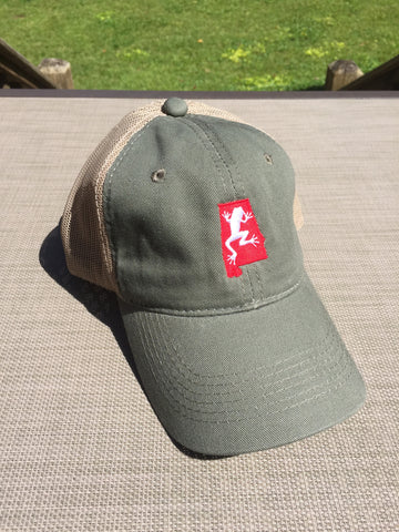 Olive Bama Frogs Hat