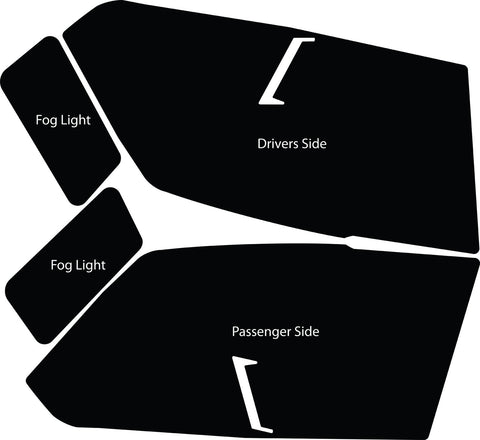 Husky Liners Headlite Guard Pre-cut Paint Protection Film For 2011-2012 Ram  1500 6647