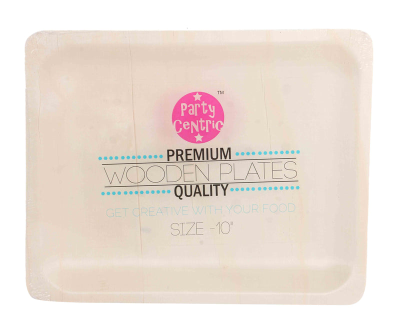 Party Centric 10 Inch Wooden Rectangle Tray (Pack Of 500)