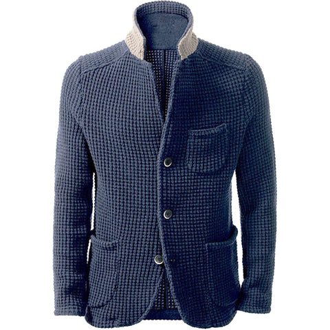 MADE TO ORDER Men hand knit cardigan 140A